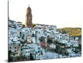 Montoro op heuvel in Cordoba in het Spaanse Andalusië Aluminium 40x30 cm - klein - Foto print op Aluminium (metaal wanddecoratie)