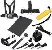 YKD-107 8-in-1 borstgordel + polsriem + hoofdriem + drijvende Bobber-monopod + schroeven + draagtas + handheld monopod-klemset voor GoPro HERO4 / 3 + / 3/2/1 / SJ4000