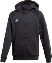 adidas Core 18 Hooded  Sporttrui casual - Maat 152  - Unisex - zwart