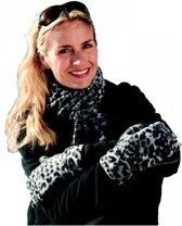 Result winterset luipaard print one size