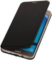 BestCases.nl Zwart Premium Folio leder look booktype smartphone hoesje voor Samsung Galaxy J5 2016 J510F