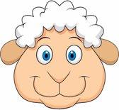 Kartonnen schaap/lammetje masker voor kinderen