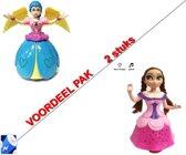 2 stuks - Prinsesjes poppen -speelfiguur Anna & Elsa prinses  (incl. batterijen)