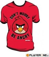 ANGRY BIRDS - T-Shirt Don't Worry Be Angry Red (XL)