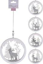 Kersthanger Rendier 13cm Zilver