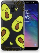 Samsung Galaxy A6 (2018) Uniek TPU Hoesje Avocado Singing