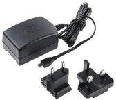 Officiele Raspberry Pi 2,5A 5,1V micro USB adapter, zwart