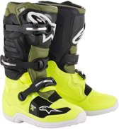Alpinestars Kinder Crosslaarzen Tech 7S Fluor Yellow/Military Green/Black-42 (EU)