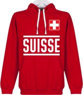 Zwitserland Team Hooded Sweater - Rood - L