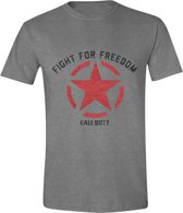 Call of Duty: WWII - Fight for Freedom Mannen T-Shirt - Grijs Melange - XL