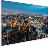 Luchtfoto van de miljoenenstad Beijing Plexiglas 180x120 cm - Foto print op Glas (Plexiglas wanddecoratie) XXL / Groot formaat!
