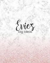 Evie's Big Ideas: Personalized Notebook - 8x10 Lined Women's Journal