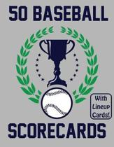 50 Baseball Scorecards With Lineup Cards