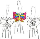 Zonlicht vangende windklokken vlinder  (3 stuks per verpakking)