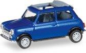 Mini Cooper opendak rallylichten blauw metallic