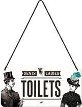 Nostalgic Art Metalen bord Hanging Toilet