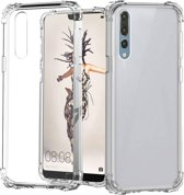 Backcover Shockproof TPU + PC voor Huawei P20 ProTransparant