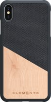 Nordic Elements Hel backcover voor Apple iPhone Xs Max -  Maple hout / donkergrijs textiel