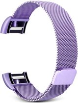Fitbit Charge 2 Luxe Milanees bandje  Licht Paars / Light Purple  Premium kwaliteit   Maat: S/M   RVS  TrendParts