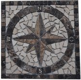 Mozaiek medallion windroos 30 x 30