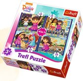 4 in 1 - Dora and Friends Puzzel