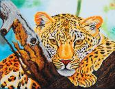 Diamond Dotz ® painting Art Leopard Look (45,7x35,5 cm)