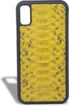 Luxe Handgemaakte iPhone X/XS Case - Total Yellow