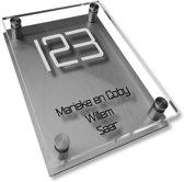 Namen enzo! Naambordje RVS | Acrylglas 20x30 cm