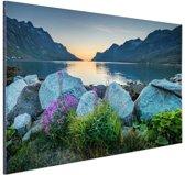 FotoCadeau.nl - Ersfjordbotn fjord Noorwegen  Aluminium 90x60 cm - Foto print op Aluminium (metaal wanddecoratie)