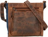 Leather Design Hunter leren crossbody/schoudertas bruin