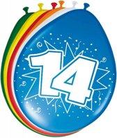 Ballonnen 14 Jaar 30cm 8 stuks