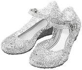 Prinsessen schoenen zilver Prinses Elsa maat 28 (valt als maat 26) - verkleedkleding