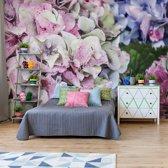 Fotobehang Hydrangea Flowers | VEXXXXL - 416cm x 290cm | 130gr/m2 Vlies