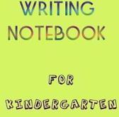 Writing Notebook for Kindergarten
