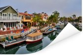 De wijk Naples in het Amerikaanse Long Beach Poster 30x20 cm - klein -
