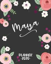 Maya: Personalized Name Weekly Planner. Monthly Calendars, Daily Schedule, Important Dates, Goals and Thoughts all in One!