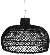 One World Interiors Maze Hanglamp - Groot - Zwart - Rotan