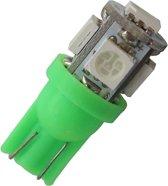 T10 - GROEN - 5 LED - 12V - 5050 SMD