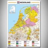 Poster kaart Nederland XL 100x140cm