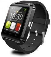 Uwatch U8 smartwatch - Zwart met siliconen band