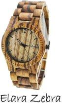 Houten horloge: Elara Zebra