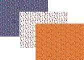 Assortiment 2 Sinterklaaspapier Cadeaupapier Inpakpapier - 200 x 70 cm - 3 rollen
