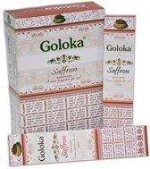 Goloka Saffron wierookstokjes 15 grams