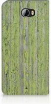 Huawei Y5 2   Y6 Compact Standcase Hoesje Design Green Wood