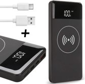 Powerbank Wireless Draadloos + USB-C Kabel - 10000 mAh - voor iPad / Samsung / Huawei - TechNow