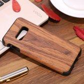 Let op type!! Schokbestendige TPU + hout beschermhoes voor Galaxy S10 E