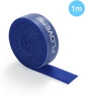 Kabelbinder - Klittenband - 1M - Kabels Bundelen - Kabels Ordenen - Geen Rommelige Snoeren Meer - Blauw