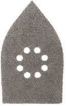 Silverline Driehoekige klittenband gaas schuurvellen, 175 x 105 mm, 10 Stuks 80 korrelgrofte