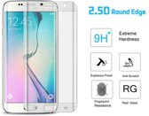 Screenprotector Geschikt voor Samsung Galaxy S6 Edge - Edged (3D)Tempered Glass Screen protector Transparant 2,5D 9H (Gehard Glas)