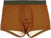 HOM - Heren - Oasis Brief Boxershort Groen - Oranje - M